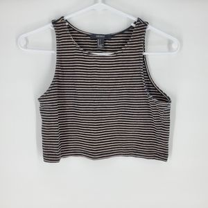 Forever 21 medium striped crop top tank